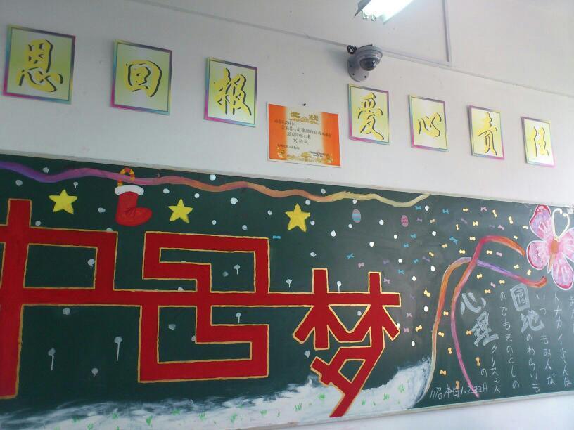 外国语学院开展 学习中国梦 的黑板报评比活动图片